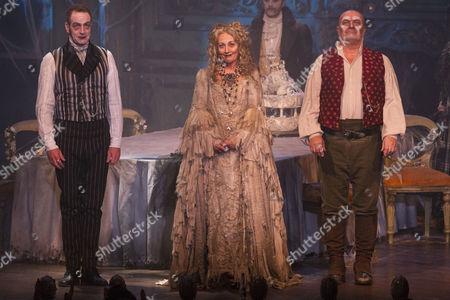Jack Ellis (Jaggers), Paula Wilcox (Miss Havisham) and Chris Ellison (Magwitch)