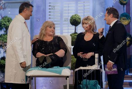 Dr Khan and Lesley Reynolds Khan with Linda Nolan and Alan Titchmarsh