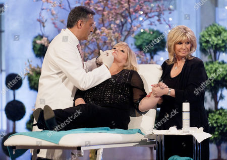 Stock Picture of Dr Khan and Lesley Reynolds Khan with Linda Nolan
