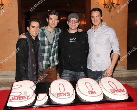 John Lloyd Young, Drew Gehling, Jeremy Kushnier, Matt Bogart