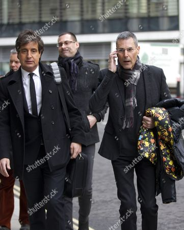 Uri Geller next to (left) David Sherborne QC