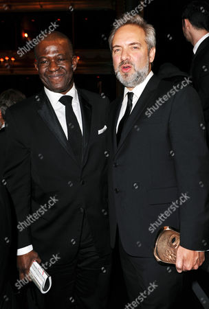 Baz Bamigboye and Sam Mendes