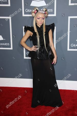 Editorial picture of 55th Annual Grammy Awards, Arrivals, Los Angeles, America - 10 Feb 2013