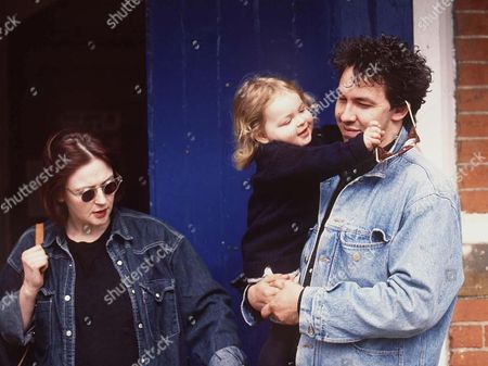 MARINA OGILVY WITH HER DAUGHTER ZENOUSKA AND PAUL MOWATT
