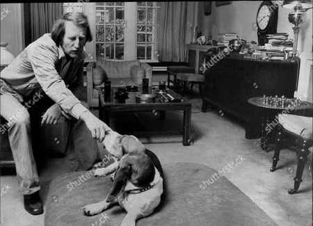Actor And Comedian Lance Percival At Home With His Dog Lance Percival (born 26 July 1933) Is An English Actor Comedian And After-dinner Speaker.