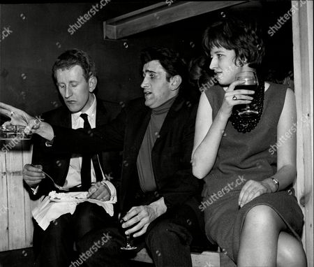 Actor And Comedian Lance Percival (left) With Actor Al Mancini And Actress Nerrissa Gartland At David Frost's Birthday Party Lance Percival (born 26 July 1933) Is An English Actor Comedian And After-dinner Speaker.