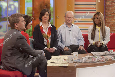 Aled Jones and Lorraine Kelly with Rosie and Phil Pope with Alexandra Burke