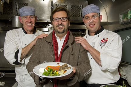 Stock Image of Mitch Tonks with chefs Mick Suggett (left) and Nick Saunders.