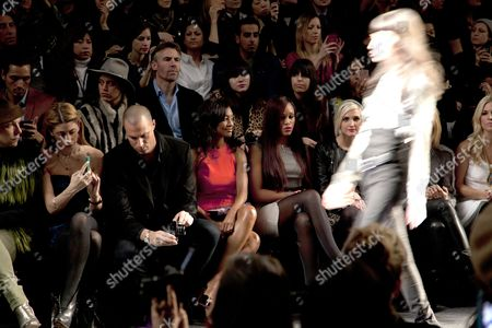 Stock Photo of Crissy Barker, Nigel Barker, Eve , Ashlee Simpson