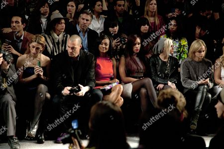 Stock Picture of Crissy Barker, Nigel Barker, Eve , Ashlee Simpson