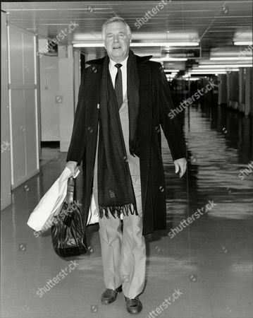 Actor George Peppard (dead May 1994) At Heathrow Airport.