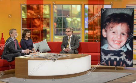 Aled Jones and Lorraine Kelly with David James Smith