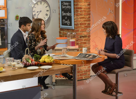 Kiran Stacey and Martel Maxwell with Lorraine Kelly