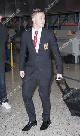 Editorial photo of Manchester United football club leaving for their Champions League match, Manchester airport, Britain - 12 Feb 2013