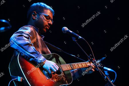 Editorial image of Bhi Bhiman in concert at the Purcell Room, Southbank Centre, London, Britain - 08 Feb 2013