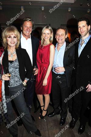 Joanna Lumley and Rob Hersov with Nadya and Marlon Abela