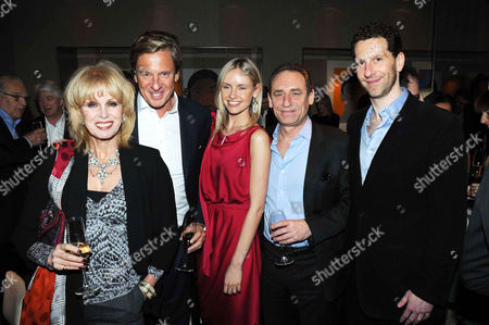 Stock Picture of Joanna Lumley and Rob Hersov with Nadya and Marlon Abela