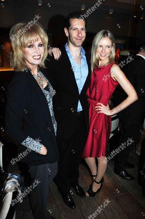 Joanna Lumley with Marlon and Nadya Abela