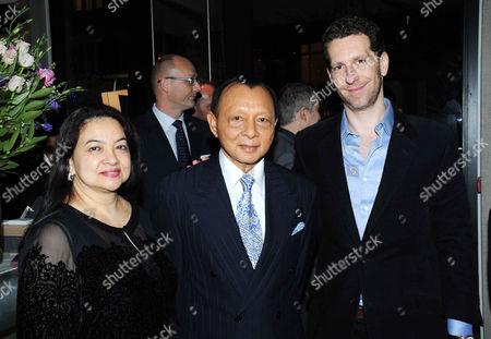 Stock Photo of His Highness Tengku Abdullah Sultan Abu Bakar and Datin Seri Dato Habibah with Marlon Abela