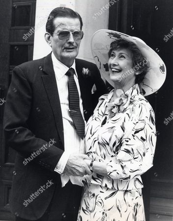 Actress Dinah Sheridan With Her 3rd Husband Jack Merivale Actor On Their Wedding Day.