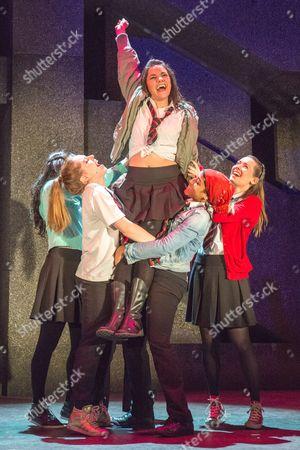 'Glasgow Girls' - Joanne McGuiness, Dawn Sievewright, Amaka Okafor, Stephanie McGregor and Amiera Darwish