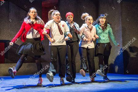 'Glasgow Girls' - Joanne McGuinness, Dawn Sievewright, Amaka Okafor, Stephanie McGregor and Amiera Darwish