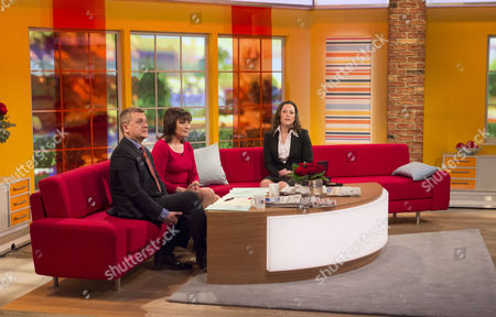 Aled Jones and Lorraine Kelly with Sophie Hosking