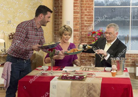 Mark Sargeant with Ruth Langsford and Eamonn Holmes