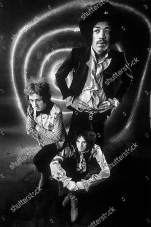 The Jimi Hendrix Experience - 1968, L-R, Mitch Mitchell, Jimi Hendrix, Noel Redding