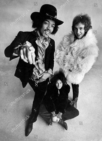 The Jimi Hendrix Experience - 1968, L- R, Jimi Hendrix, Noel Redding, Mitch Mitchell