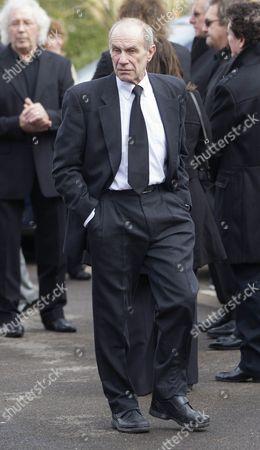Editorial picture of Funeral of Reg Presley at Basingstoke crematorium, Hampshire, Britain - 14 Feb 2013