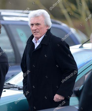 Editorial image of Funeral of Reg Presley at Basingstoke crematorium, Hampshire, Britain - 14 Feb 2013