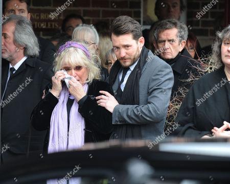 Editorial photo of Funeral of Reg Presley at Basingstoke crematorium, Hampshire, Britain - 14 Feb 2013