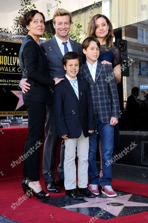 Rebecca Rigg, Simon Baker, daughter Stella and sons Claude and Harry