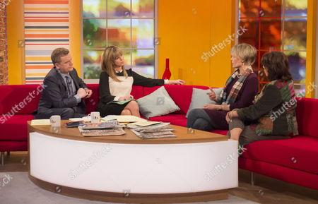 Aled Jones and Kate Garraway with Kim Hosier and Jeni Barnett