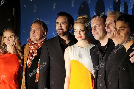 Jane Hartwell, Kostja Ullmann, Janin Reinhardt, Uwe Ochsenknecht, Nicolas Cage, Emma Stone, Kirk De Micco, Chris Sanders and Kristine Belson