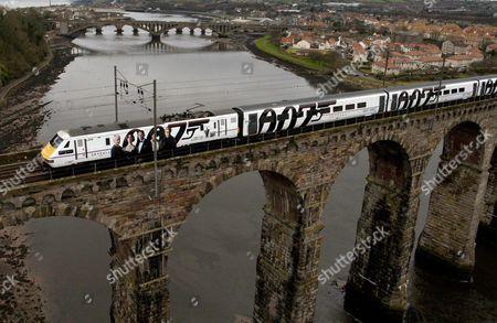 Editorial picture of 'Skyfall' DVD Launch, Royal Border Bridge, Berwick Upon Tweed, Britain - 16 Feb 2013