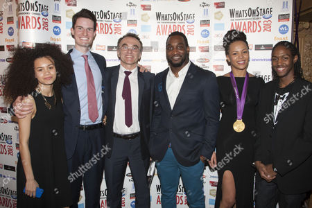 Stock Image of Jasmine Breinburg, Peter Wilson, Danny Boyle, Kenrick Sandy, Nicola Adams and Henrique Costa