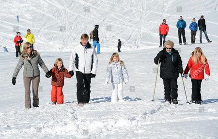 Editorial photo of Dutch royals skiing photocall, Lech, Austria - 18 Feb 2013