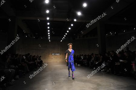 Editorial picture of Louise Gray show, Autumn Winter 2013, London Fashion Week, Britain - 18 Feb 2013