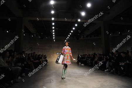 Stock Picture of Model on catwalk