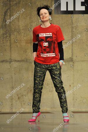 Editorial image of Louise Gray show, Autumn Winter 2013, London Fashion Week, Britain - 18 Feb 2013