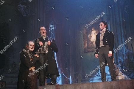 James Vaughan (Wemmick), Jack Ellis (Jaggers), Taylor Jay-Davies (Young Pip)