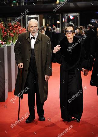 Christopher Lee and Birgit Kroencke