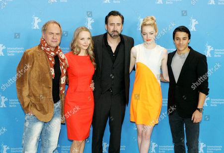 Janin Reinhardt, Nicolas Cage, Emma Stone and Kostja Ullmann