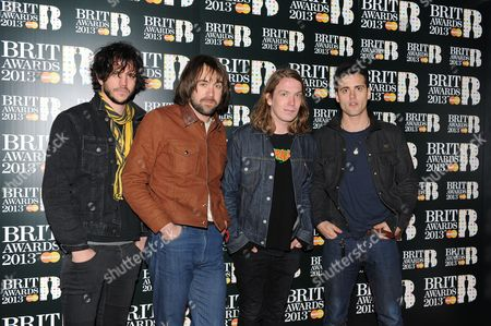 Stock Photo of The Vaccines - Arni Hjorvar, Pete Robertson, Justin Young and Freddie Cowan