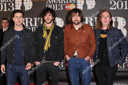 Stock Picture of The Vaccines - Arni Hjorvar, Pete Robertson, Justin Young and Freddie Cowan
