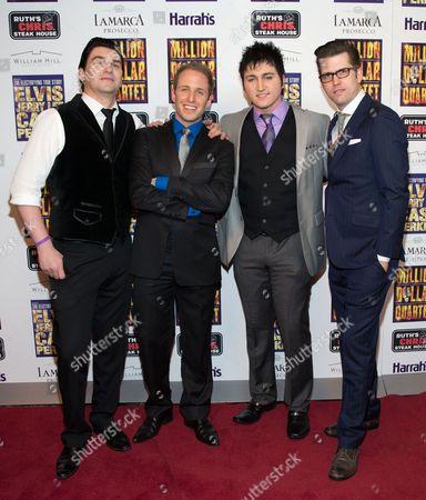 Editorial picture of Million Dollar Quartet opening at Harrah's in Las Vegas, America - 19 Feb 2013