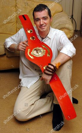 Britain's Only Samurai Warrior ...... Tv Producer Karl Beattie From Cheadle Hulme Manchester With His Belt That He Recieved After Winning The World Traditional Full Contact Championships.