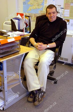 Britain's Only Samurai Warrior .... Tv Producer Karl Beattie From Cheadle Hulme Manchester At His Offices In Manchester.